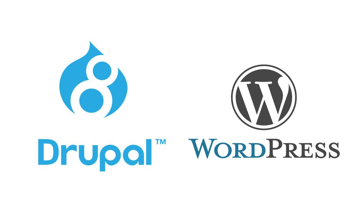 「Wordpress」と「Drupal」